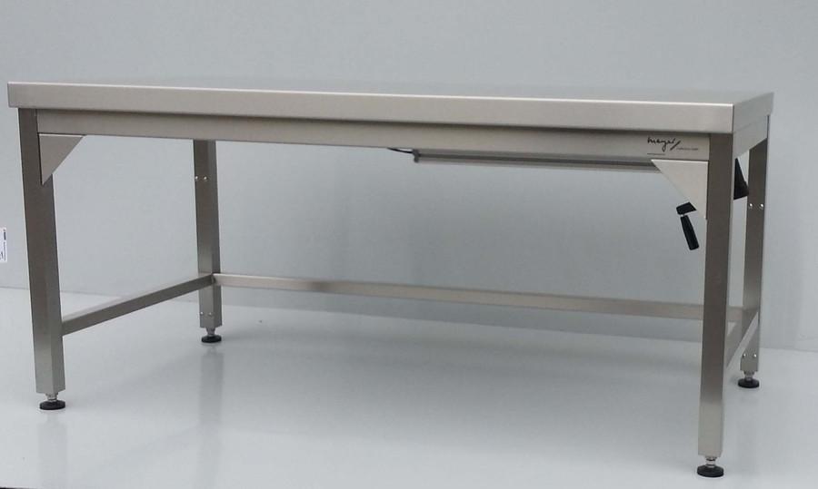 edelstahl tisch h henverstellbar. Black Bedroom Furniture Sets. Home Design Ideas